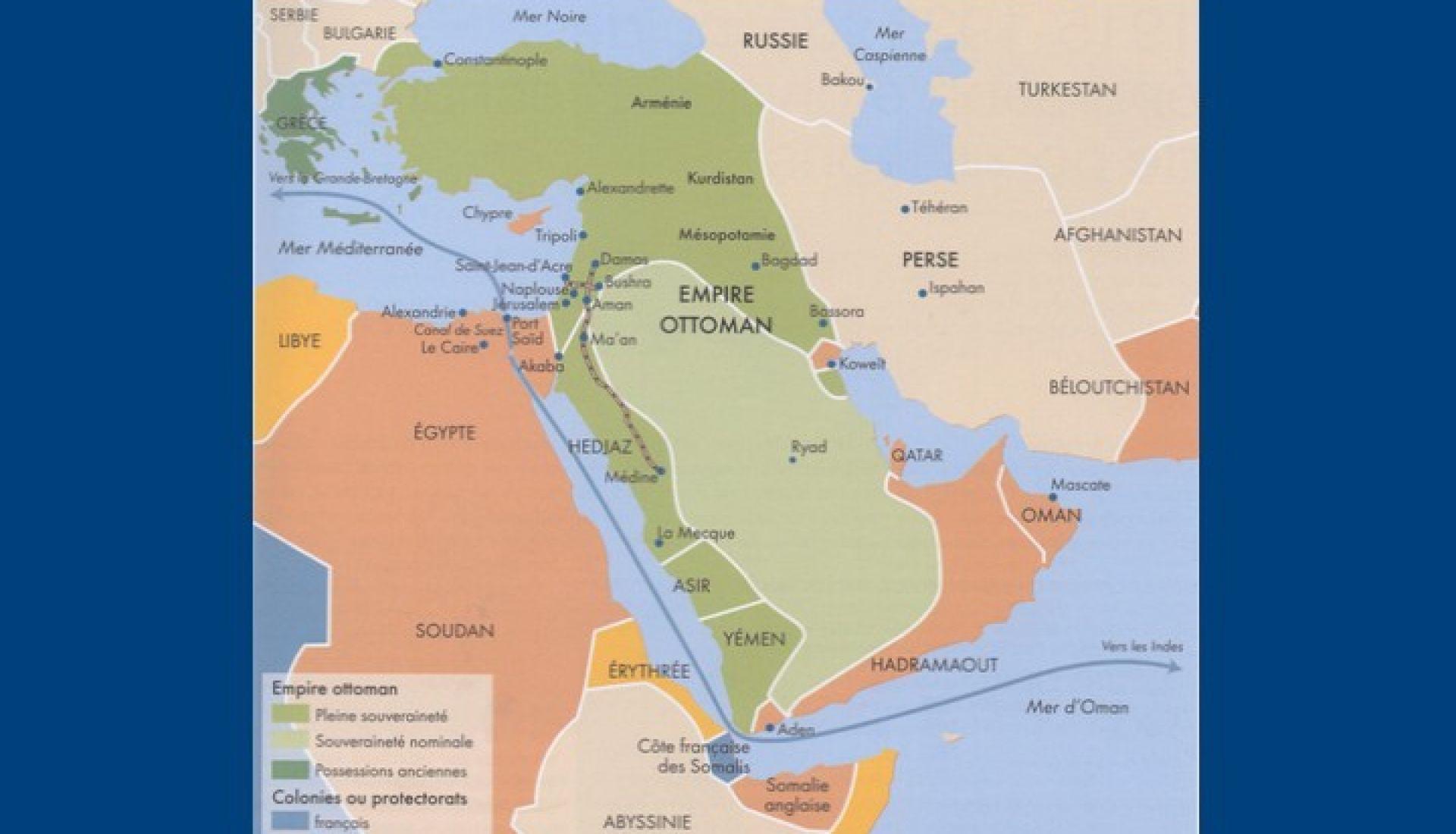 Le Moyen-Orient dominé et fracturé au lendemain de la 1ère guerre mondiale-Sunnites et Chiites au Moyen-Orient